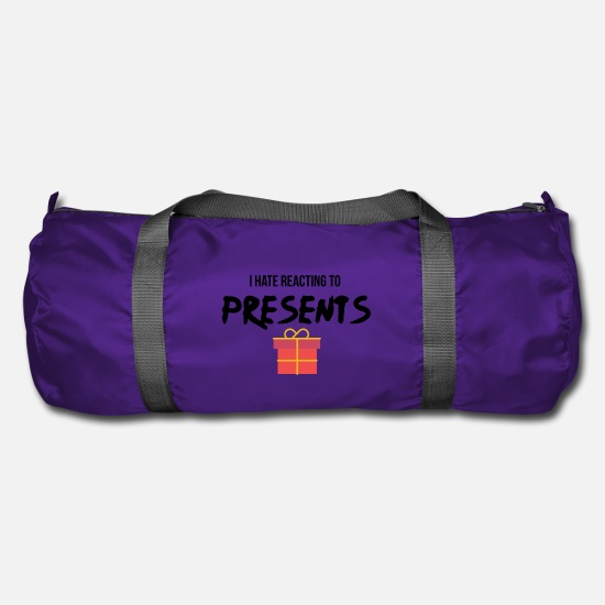 Present Bags & Backpacks - Reacting to presents - Duffle Bag purple