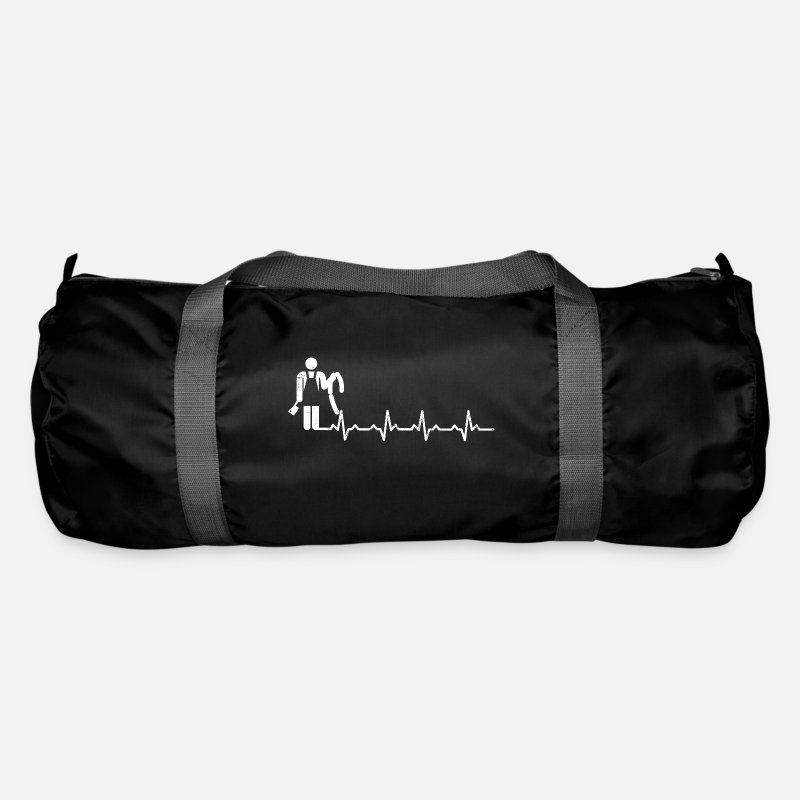Love Bags & Backpacks - Butcher heartbeat butcher gift job job - Duffle Bag black