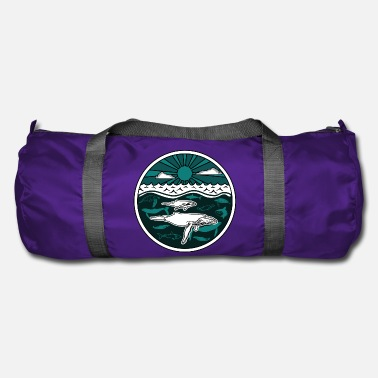 Humpback whale family marine animals sun ocean sea 2 - Duffel Bag