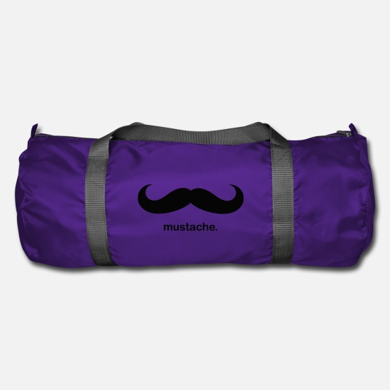Beard Bags & Backpacks - Mustache mustache - Duffle Bag purple