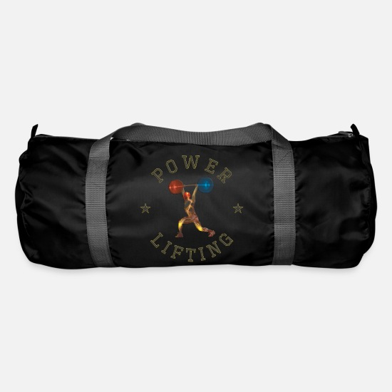Gift Idea Bags & Backpacks - POWER LIFTING COLORED - Duffle Bag black