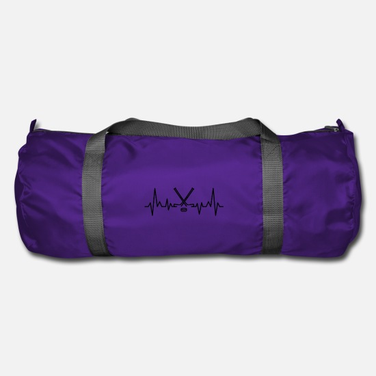Hockey Bags & Backpacks - Ice hockey heartbeat hockey stick - Duffle Bag purple