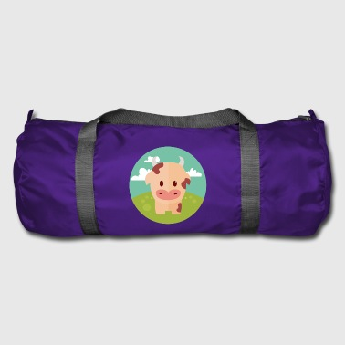 Meadow Cow on meadow - Duffel Bag