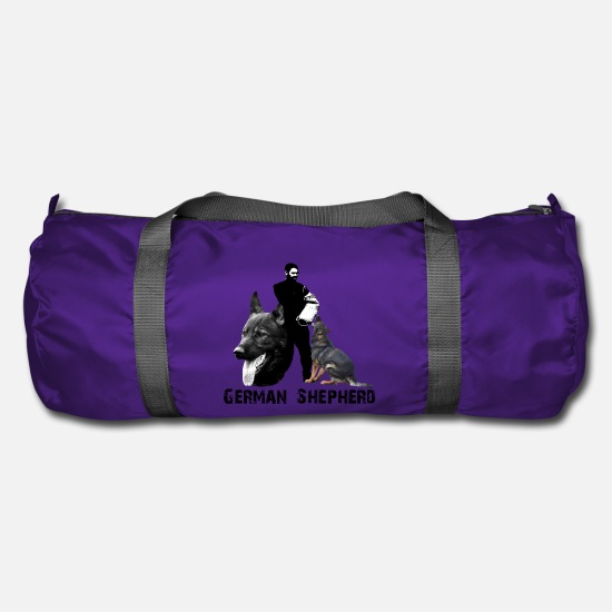 Dog Sports Bags & Backpacks - Dog sports, shepherd, obedience, dog head, dog - Duffle Bag purple