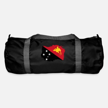 Papua New Guinea Roots roots flag homeland country Papua New Guinea p - Duffle Bag