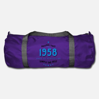 1958 original since 1958 simply the best 60th birthday - Duffel Bag