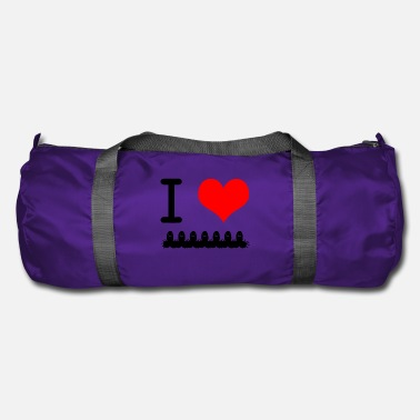 Cock I love cock heart I love shirt - Duffel Bag