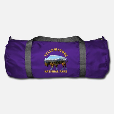 National Yellowstone National Park Buffalo With Nature - Duffle Bag