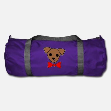 Puppy with Red Bow Gym Bag