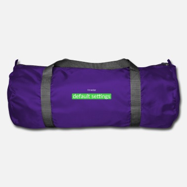 Set default settings - Duffel Bag