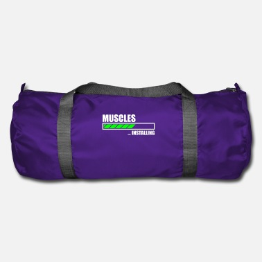 Funny Installing Muscles Funny Gym - Duffel Bag