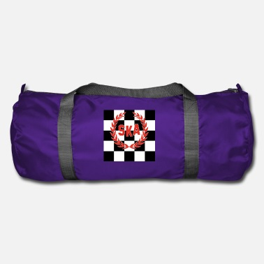 Ska SKA Checkered Skinhead Punk Music T-Shirt - Duffel Bag