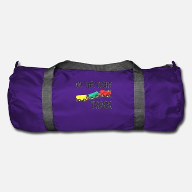 Railway Track On The Right Track Positive Design Train on Track. - Duffel Bag