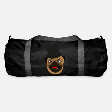 Wealthy The wealthy Pug - gift idea, monocle - Duffle Bag