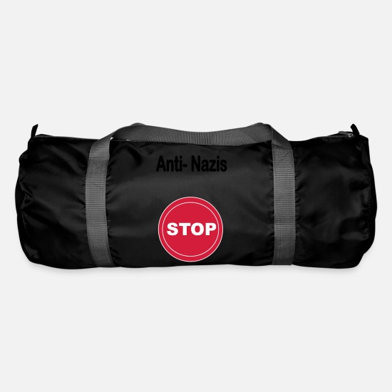 Politics Bags & Backpacks - Anti Nazis - Duffle Bag black