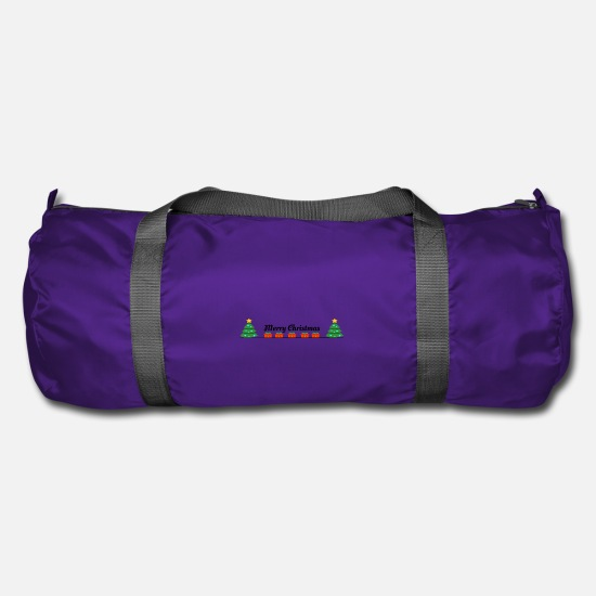 Gift Idea Bags & Backpacks - Merry Christmas. Merry Christmas! - Duffle Bag purple