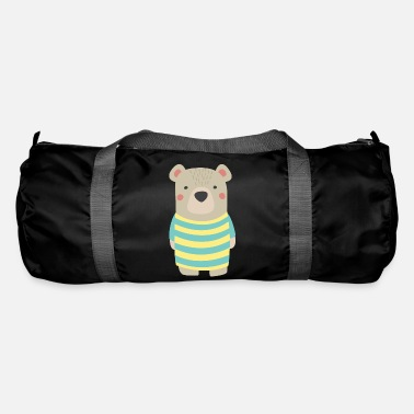 Baer with stripes shirt - Duffle Bag