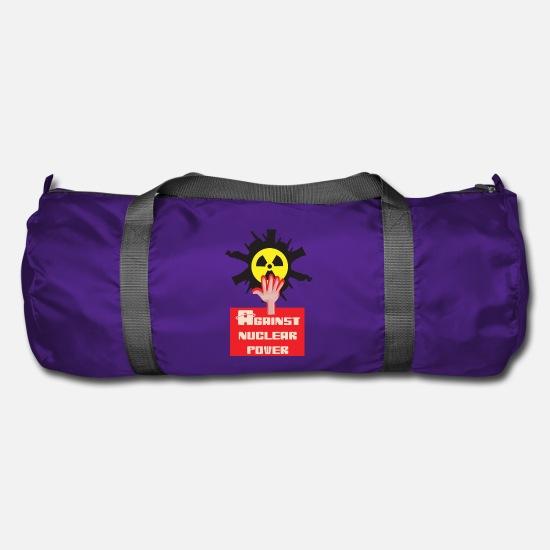 Radioactive Bags & Backpacks - Nuclear power nuclear phase-out yes and against nuclear power - Duffle Bag purple