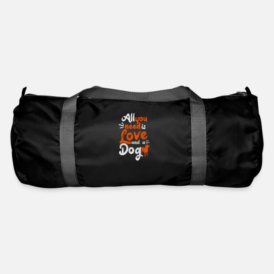 Love Bags & Backpacks - All you need is love and a dog - Duffle Bag black