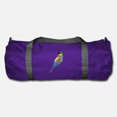Beak Beautiful bird with bee in the beak - Duffel Bag