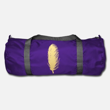 Feather Feather feathers feathers gold - Duffle Bag
