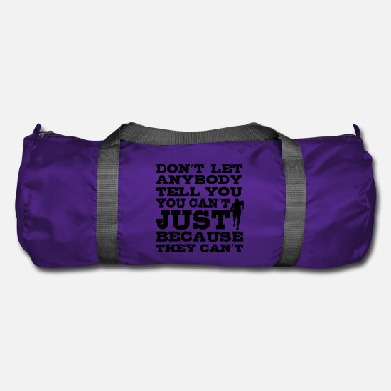 Birthday Bags & Backpacks - Sports motivation - Duffle Bag purple