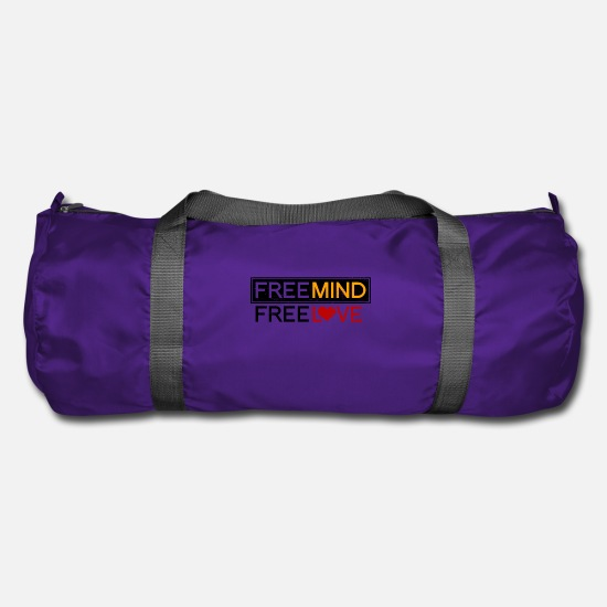 Love Bags & Backpacks - Free Spirit Free Love - Duffle Bag purple