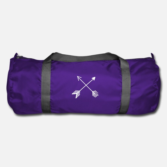Birthday Bags & Backpacks - Hipster arrows, vintage, arrow, feather - Duffle Bag purple