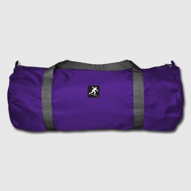 Surfing poster black - Duffel Bag