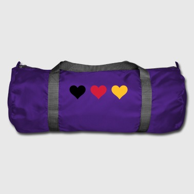 Three hearts of Germany flag - Duffel Bag