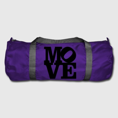 move Homage to Robert Indiana move black inside - Duffel Bag