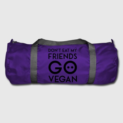 DON'T EAT MY FRIEND GO VEGAN black - Sporttasche