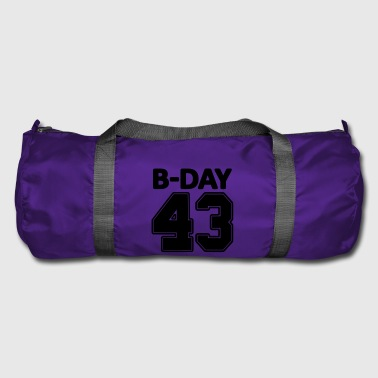 Number 43 / 43rd birthday bday number number - Duffel Bag