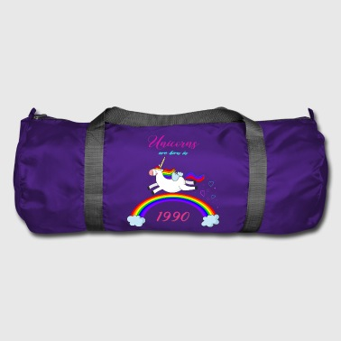 UNICORN ARE BORN IN 1990 UNICORN GIFT BIRTH - Duffel Bag