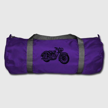 Motorcycle / Classic Motorcycle 04_black - Duffel Bag