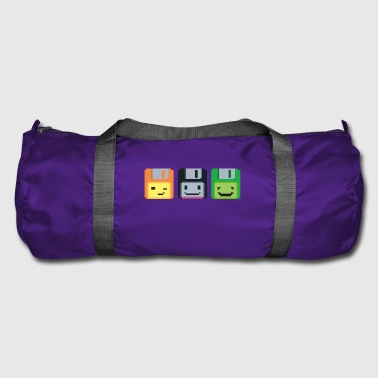 8-bit retro floppy disks - Duffel Bag