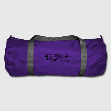 Fighter plane / warplane Warhawk 02_black - Duffel Bag