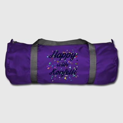 Happy with confetti - Duffel Bag