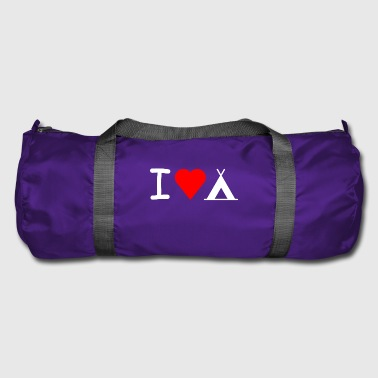 I love camping - Duffel Bag