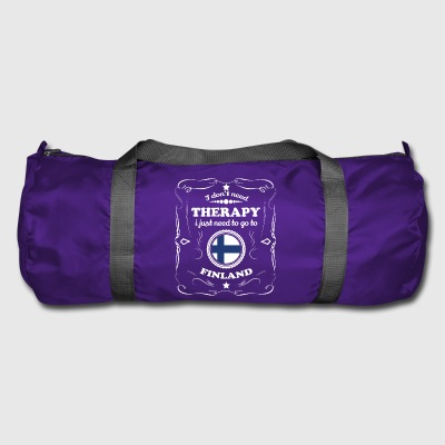 DON T NEED THERAPY WANT GO FINLAND - Duffel Bag