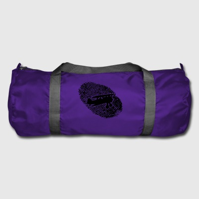 fingerprint dns dna gift airplane flying - Duffel Bag