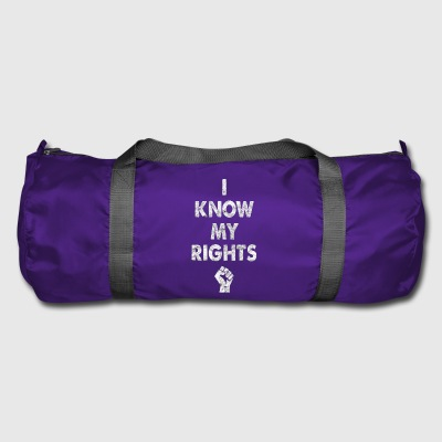 I know my rights cool sayings - Duffel Bag
