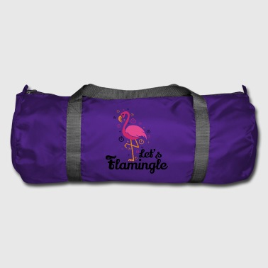 Let's flamingle Funny Flamingo T-Shirt Gift - Duffel Bag