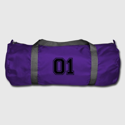 01 - College Style Sportswear and Numbers Motif - Duffel Bag
