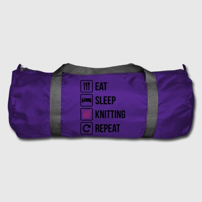 Eat Sleep Gjenta Knitting - Sportsbag