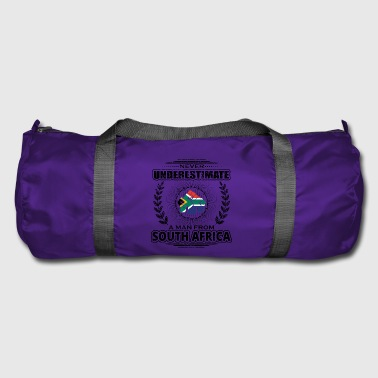 Never Underestimate Man Roots SOUTH AFRICA png - Duffel Bag