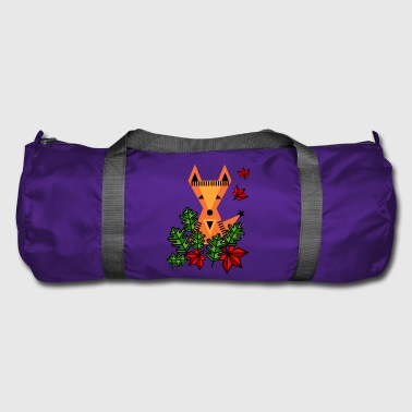 Little fox in the forest. Summer animals. Flowers - Duffel Bag