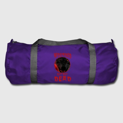 Wolf dog horror moon full moon blood Halloween new - Duffel Bag