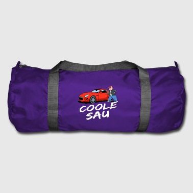 cool sow it red sports car, pigs good - Duffel Bag