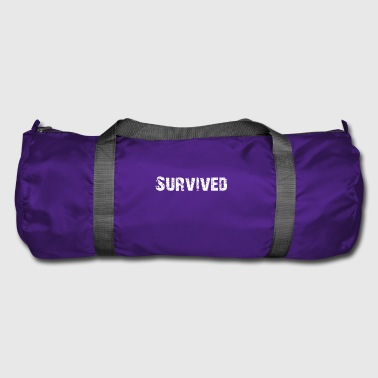 Simple Survived Logo - Duffel Bag